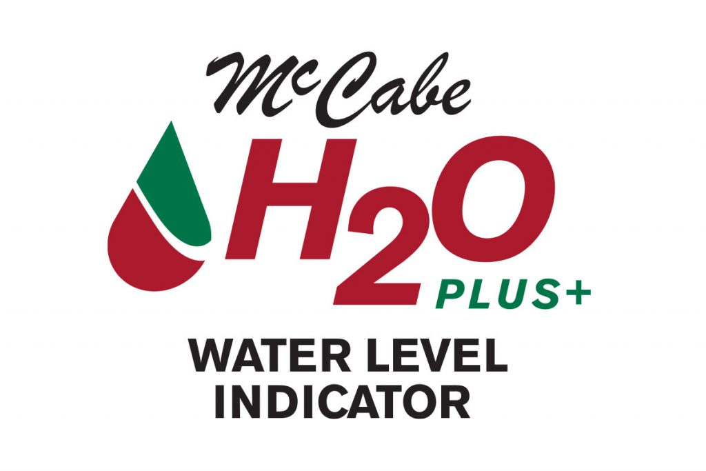 McCabe H2O Plus Water Level Indicator Paste label