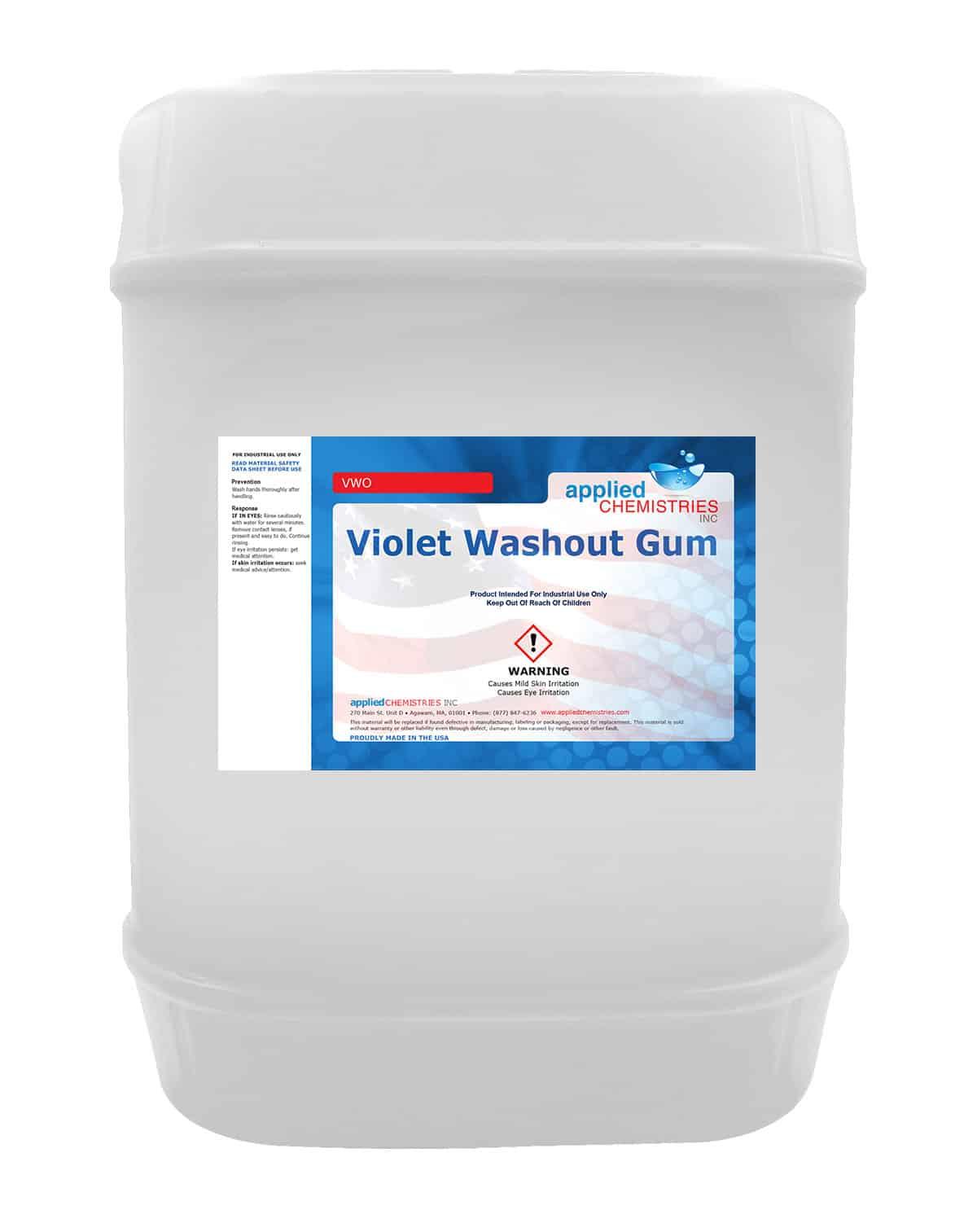 Violet Washout Gum