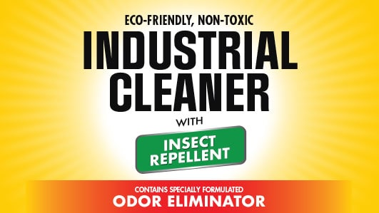 Industrial Cleaner Insect Repellant - With Odor Eliminator